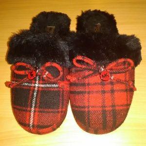 Michael Kors plaid slippers